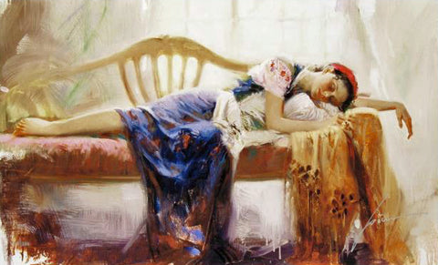 At Rest Pino Daeni Giclee Print Artist Hand Signed and Numbered