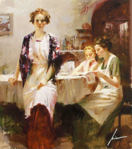Distant Thoughts Pino Daeni Canvas Giclee Print Artist Hand Signed and Numbered