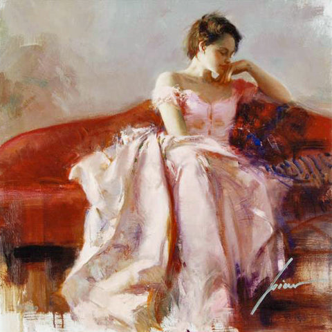 Evening Pino Daeni Canvas Giclee Print Artist Hand Signed and Numbered
