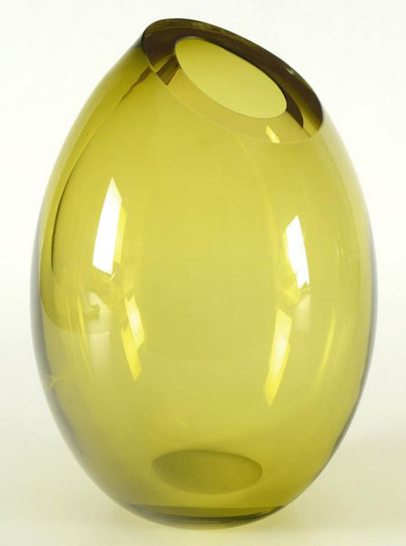 Paul Brayton Hand Blown Glass Vase Sculpture Artist Hand Signed and Dated