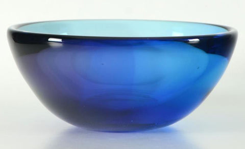 Paul Brayton Hand Blown Glass Bowl Fine Art Sculpture Artist Hand Signed and Dated
