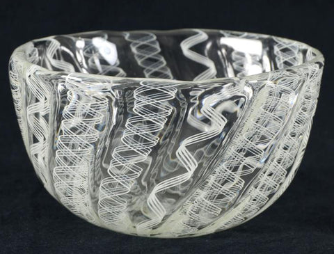 Paul Brayton Hand Blown Glass Bowl Sculpture