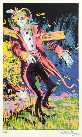 Scare Crow Paul Blaine Henrie Serigraph Artist Proof Print Hand Signed and AP Numbered