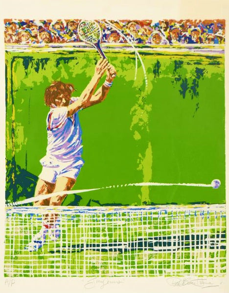 Jimmy Conners Tennis Paul Blaine Henrie Serigraph Artist Proof Print Hand Signed and AP Numbered