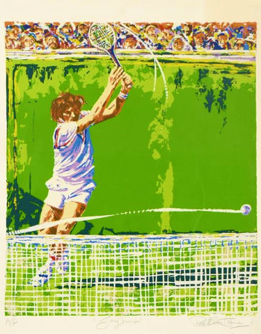 Jimmy Conners (Tennis) Paul Blaine Henrie Fine Art Artist Proof Serigraph Print Artist Hand Signed and AP Numbered