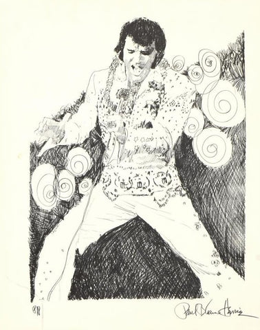 Elvis Dancing Paul Blaine Henrie Printers Proof Edition Lithograph Print Artist Hand Signed and PP Numbered