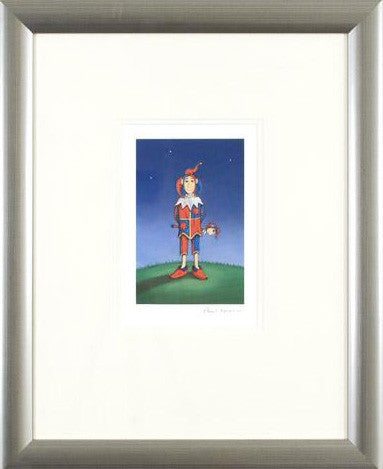 The Jester Fine Art Giclee Framed Print Artist Paul Horton Hand Signed and Numbered
