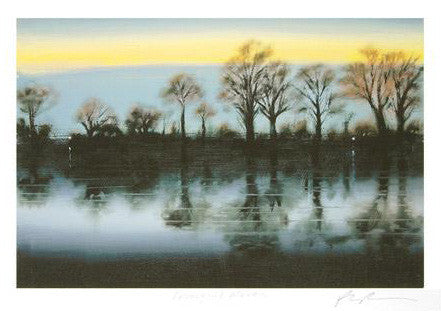 Paul Powis Tranquil River Fine Art Giclee Print Artist Hand Signed and Numbered