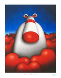 Love is All Around Peter Smith Print Artist Hand Signed and Numbered with Roman Numerals