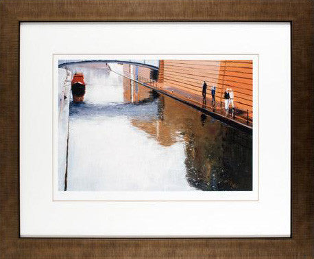Canalside Reflections Reuben Colley Fine Art Giclee Print Artist Hand Signed and Numbered