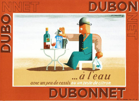 Dubonnet A Leau RE Society Fine Art Hand Pulled Lithograph Print