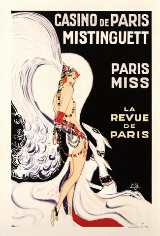 Casino De Paris Mistenquette RE Society Hand Pulled Lithograph Print Hand Signed and Numbered