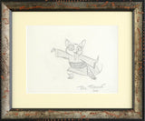 Rick Farmiloe Artist Hand Signed Original Pencil Sketch on Paper Shifu Framed