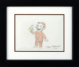 Curious George Rick Farmiloe Original Color Pencil Sketch Framed and Artist Hand Signed