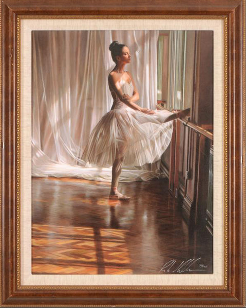 At the Barre Rob Hefferan Hand Embellished Canvas Giclee Print Artist Hand Signed and Numbered