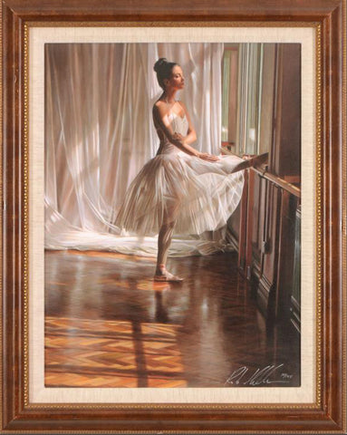 At the Barre Rob Hefferan Hand Embellished Fine Art Canvas Giclee Print Artist Hand Signed and Numbered