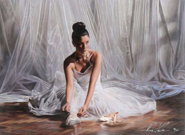 Light Through the Curtain Rob Hefferan Hand Embellished Canvas Giclee Print Artist Hand Signed and Numbered