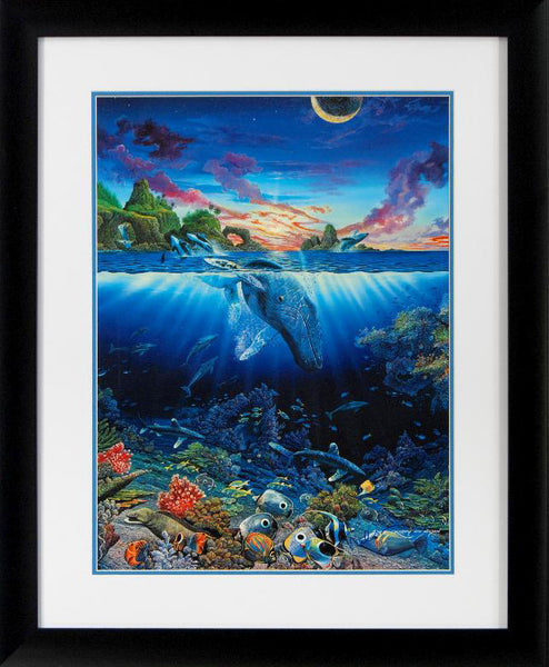 Robert Lyn Nelson Three Worlds Fine Art Poster Artist Hand Signed and Framed