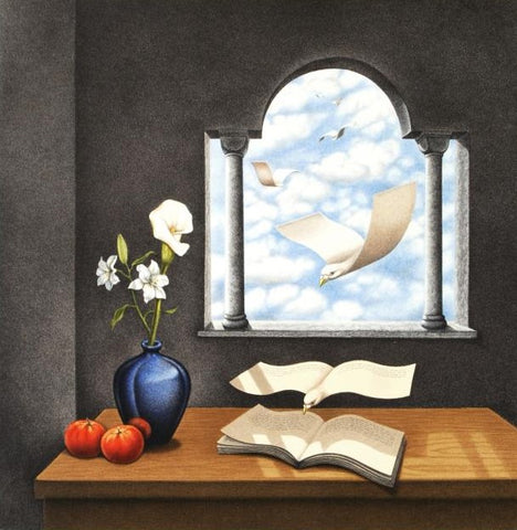 Calendar of Yesterday's Wishes Rafal Olbinski Lithograph Print Artist Hand Signed and Numbered