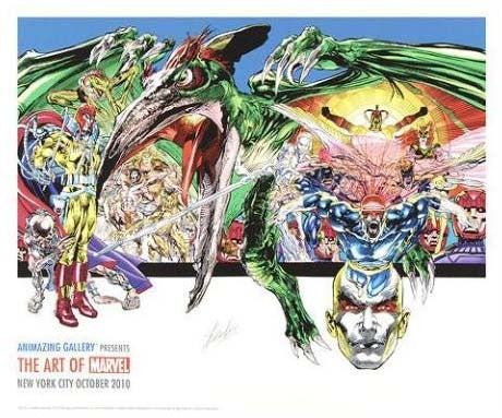 Neal Adams X Men Marvel Comics Fine Art Printers Proof Giclee Print Stan Lee Hand Signed and PP Numbered