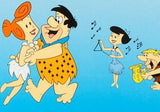 Flintstones Jam Session Hanna Barbera Animation Sericel and Full Color Lithograph Background