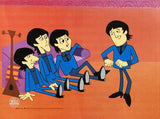 I Don't Want to Spoil the Party Beatles Cartoon Sericel by Dennilu Company with a Full Color Lithograph Background