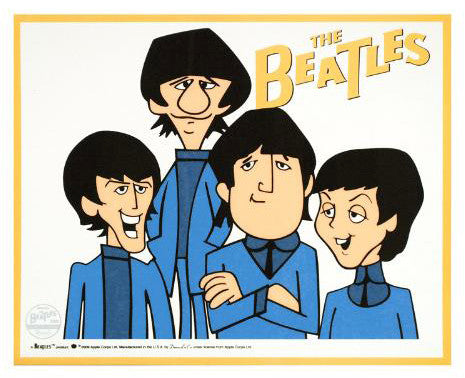 The Beatles Dennilu Company Beatles Sericel Apple Cops Authorized with a Full Color Background