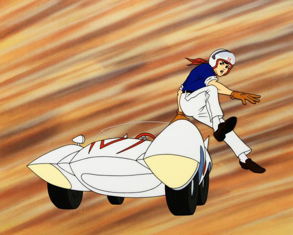 Speed Racer Tatsuo Yoshida Licensed Sericel with Full Color Background