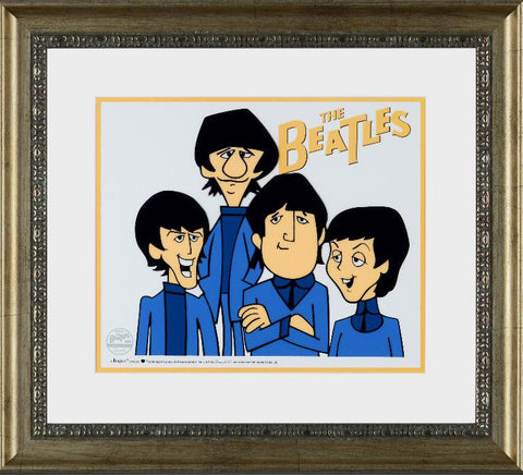 The Beatles Dennilu Company Beatles Sericel Apple Cops Authorized with a Full Color Background Framed