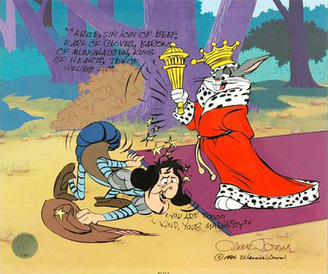 Chuck Jones Sir Loin of Beef Hand Painted Animation Cel Artist Hand Signed and Numbered with Full Color Background