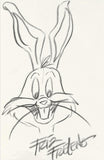 Bugs Bunny Friz Freleng Original Pencil Sketch Artist Hand Signed