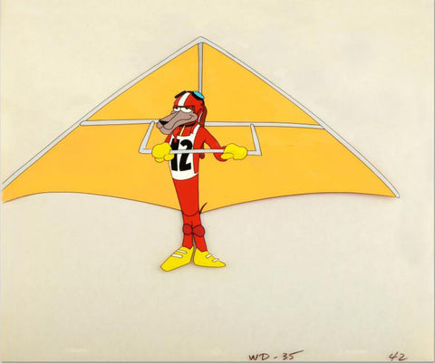 Kurt Wuffner Warner Bros Animalympics Production Animation Cel Hand Painted
