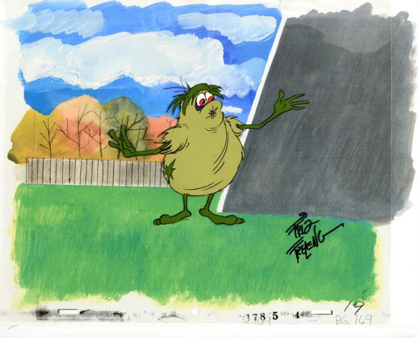 Cookie Goblin Friz Freleng Artist Hand Signed Animation Production Cel