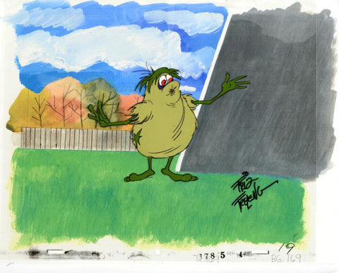 Friz Freleng Artist Hand Signed Animation Production Cel Cookie Goblin