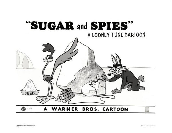 Sugar and Spies Warner Bros Giclee Print Numbered with Warner Bros Official Seal of Authenticity