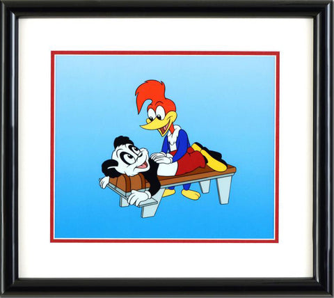 Walter Lantz Woody Woodpecker Sericel and Full Color Background Framed