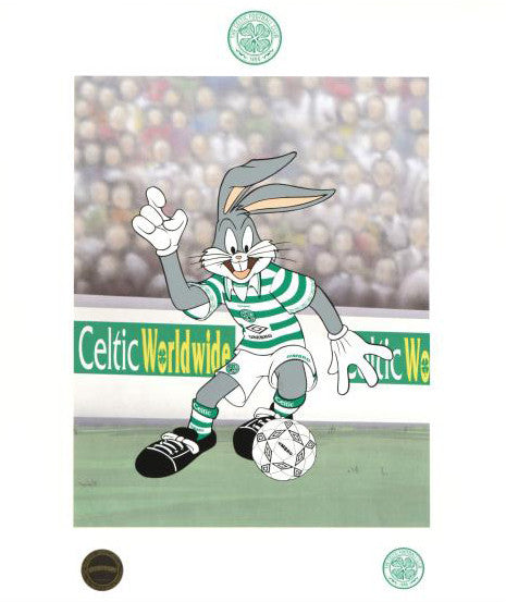 Bugs Bunny Celtic Football Club Warner Bros Fine Art Mixed Media Print Numbered