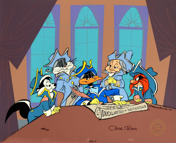 Ducklaration of Independence Chuck Jones Hand Painted Animation Cel Artist Hand Signed and Numbered