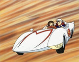 Speed Racer and Trixie Tatsuo Yoshida Licensed Sericel with a Full Color Background