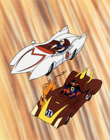 Speed Racer - Limited Edition Sericel by Tatsuo Yoshida with a Full Colored Background