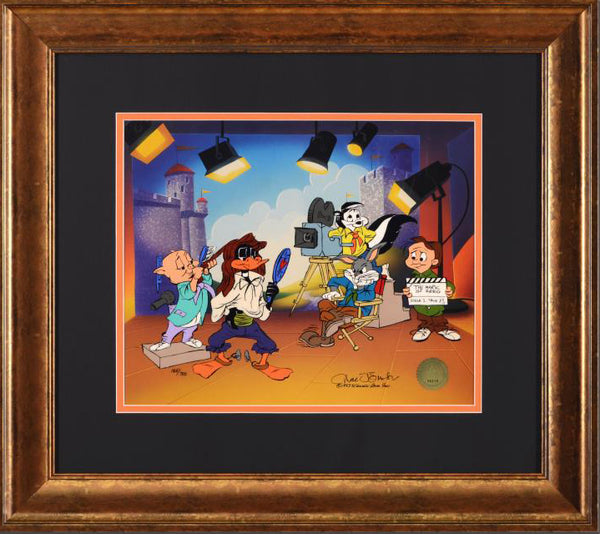 Mark of Zero Hand Painted Animation Cel Artist Chuck Jones Hand Signed Numbered and Framed