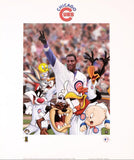 Looney Tunes Chicago Cubs Warner Bros Collectible Lithograph Print