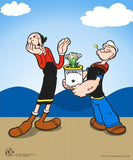 King Features Deluxe Sericel Popeye Spinach with Full Color Giclee Background and Official Seal