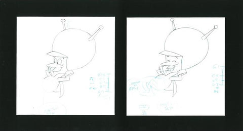 The Great Gazoo Scott Shaw Production Animation Drawings Artist Hand Signed and Matted
