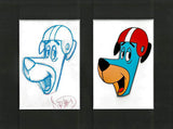 Huckleberry Hound Hanna Barbera Original Production Animation Cel and Matching Drawing Framed
