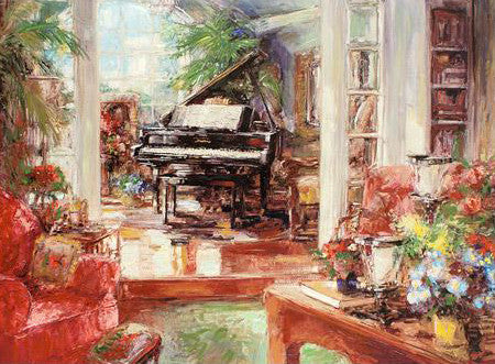 My Piano Stephen Shortridge Hand Embellished Canvas Giclee Print Artist Hand Signed and Numbered