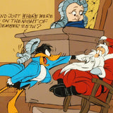Santa on Trial Hand Painted Animation Cel Artist Hand Signed and Numbered with Full Color Background