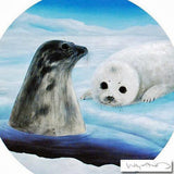 Save the Seals Wyland Diptych Lithograph Print Artist Hand Signed and Numbered