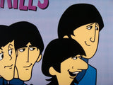 She Loves You DenniLu Beatles Sericel with Full Color Lithograph Background Apple Corps Ltd Authorized