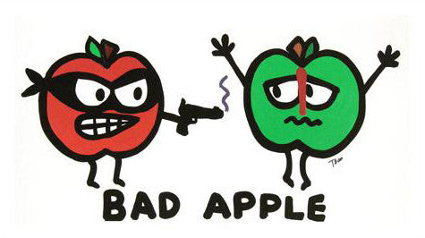 Bad Apple Todd Goldman Canvas Giclee Print Artist Hand Signed and Numbered